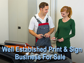 West Valley Print & Sign Shop For Sale